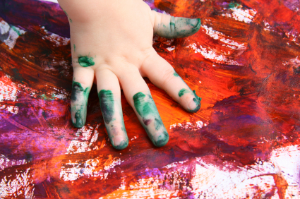 kids-hand-messy-art-project